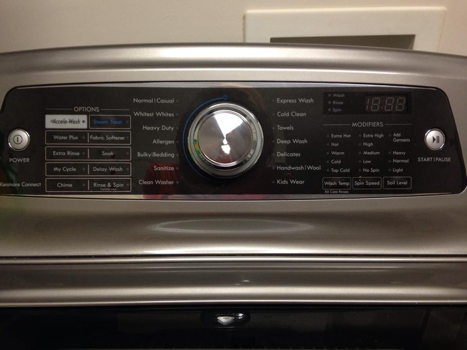 kenmore elite model 110 washing machine
