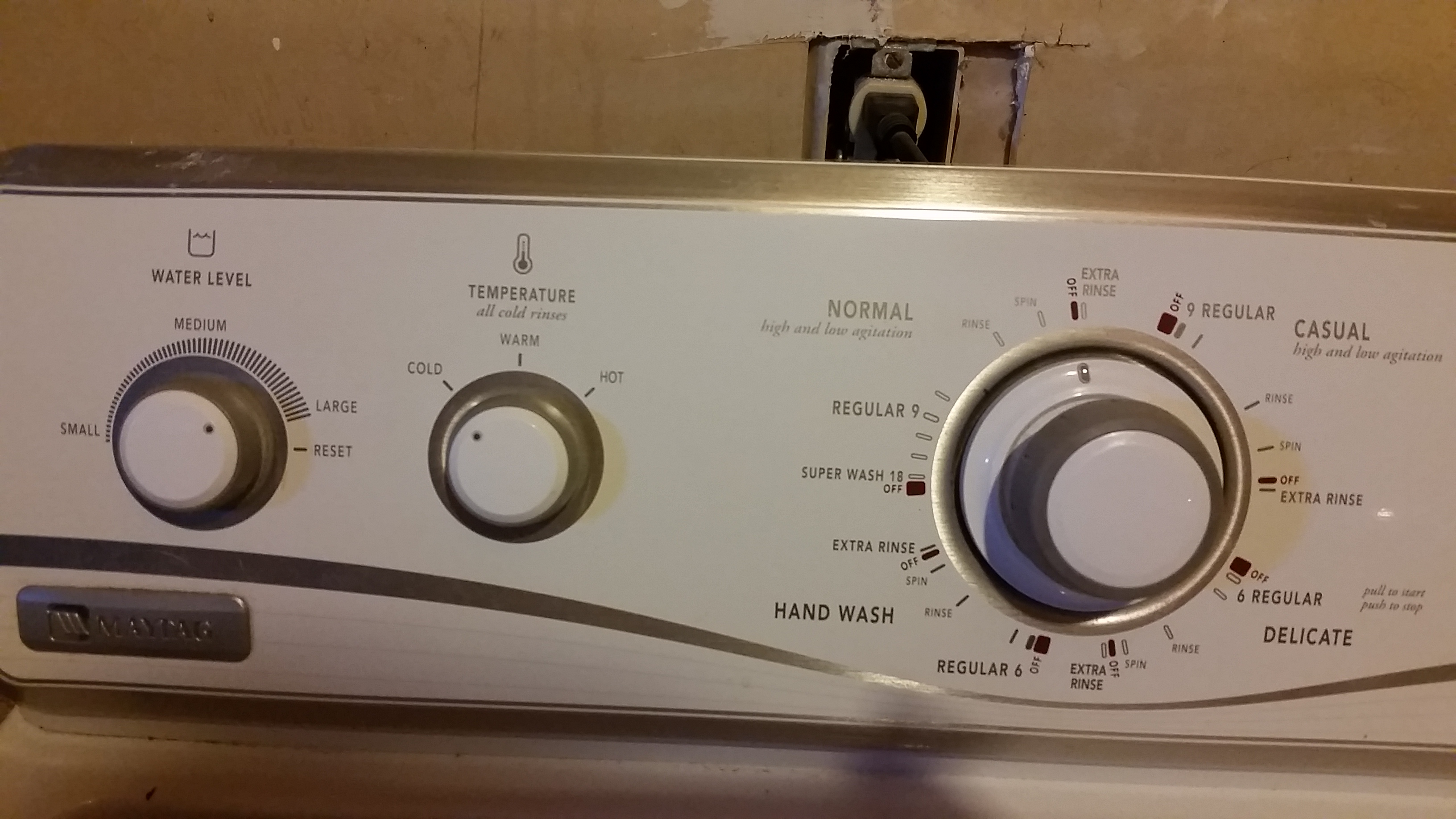 reset maytag washing machine