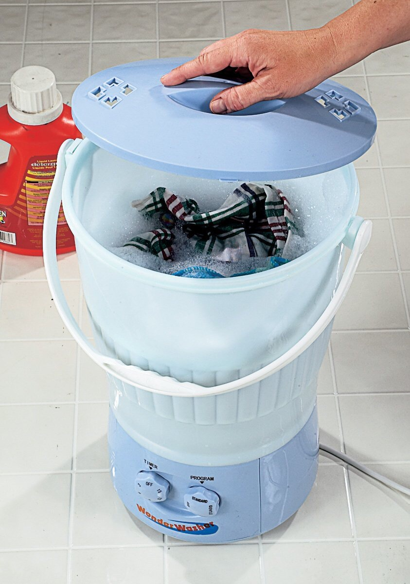 Washing cloth diapers in portable washing machines | Fluff ...